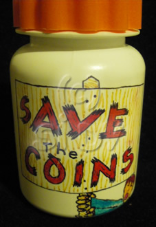 """Save the Coins"" Bottle"