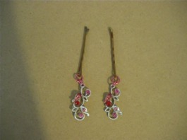 Hair jewelry with earrings or jewelry pieces
